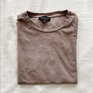 TOPSHOP Distressed T-Shirt